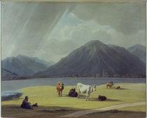 W. v. Kobell, Bäuerin vor Rottach-Egern von AKG  Images