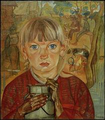 B.D.Grigorjew, Mädchen mit Milchkanne von AKG  Images