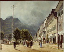 Ischl Esplanade / R. Alt / Watercolour, 1840 by AKG  Images