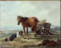 W. v. Kobell, Schlafender Bauernbursche by AKG  Images