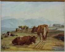 W. v. Kobell, Weidende Kühe by AKG  Images