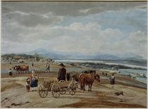 W. v. Kobell, Bauernfuhrwerk in Voralpen von AKG  Images