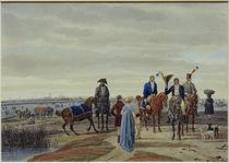 W. v. Kobell, Paar u. Offiziere vor München von AKG  Images