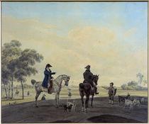 W. v. Kobell, Zwei Reiter vor Landschaft von AKG  Images