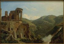 Tivoli, Tempel der Vesta / Gemälde von Carl Morgenstern by AKG  Images