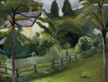 August Macke / Cottage with Garden by AKG  Images