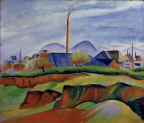 August Macke / Landscape with Factory by AKG  Images
