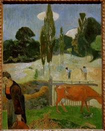 Gauguin / The red cow / 1889 by AKG  Images