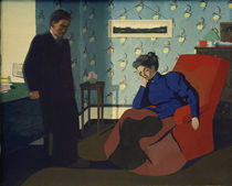 F.Vallotton, Interieur mit rotem Sessel von AKG  Images