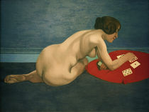 F.Vallotton, Nude playing solitaire by AKG  Images