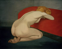 F.Vallotton, Nude kneeling against sofa by AKG  Images
