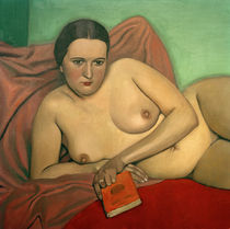 Reclining Nude Holding a Book / F. Vallotton / Painting 1924 by AKG  Images