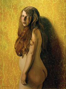F.Vallotton, Nude on yellow background by AKG  Images