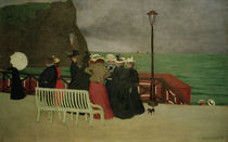 F.Vallotton, Beach promenade at Etretat by AKG  Images