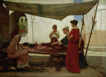 J.W.Waterhouse / A Flower Stall / 1880 by AKG  Images