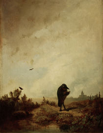 The Raven / C. Spitzweg / Painting c.1845 by AKG  Images