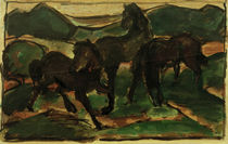 Franz Marc, Horses on the Meadow I by AKG  Images