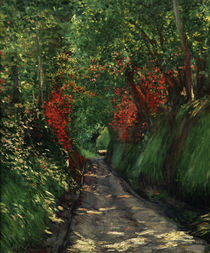 Caillebotte / Forest Path / 1880 by AKG  Images