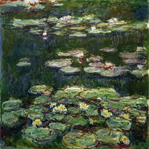 Monet / White and Yellow Waterlilies by AKG  Images