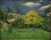 P.Gauguin, Bretonin auf dem Weg zum Waschplatz by AKG  Images