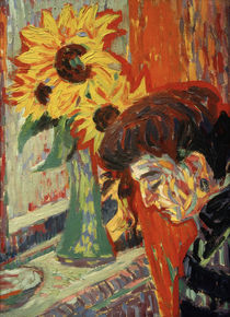 E.L.Kirchner / Women's Head with Sunfl. by AKG  Images