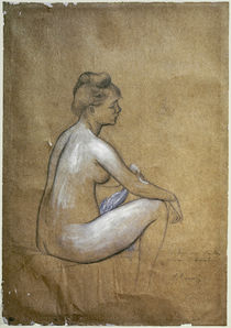 Renoir / Seated Woman Bathing / Drawing by AKG  Images