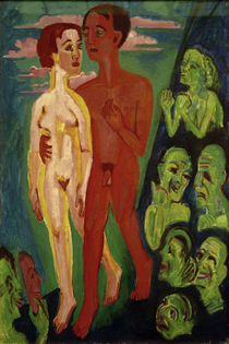 Ernst Ludwig Kirchner, The couple in front of the people by AKG  Images