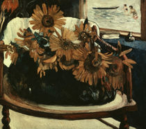 P.Gauguin, Sunflowers in an armchair by AKG  Images
