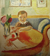 A.Macke / Portrait of Walter Macke with Roses by AKG  Images