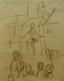 August Macke / Tightrope Dancer at the Market by AKG  Images