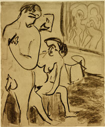 E.L.Kirchner / Couple in the Studio by AKG  Images