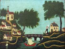 H.Rousseau / Landcape with bridge by AKG  Images