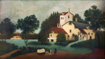 H.Rousseau, Horse Cart in front of Mill by AKG  Images