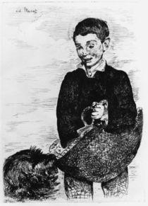 E.Manet, Knabe mit Hund von AKG  Images