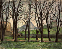 Cezanne / Chestnut trees Jas Bouffan/c1885 by AKG  Images