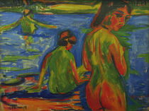 E.L.Kirchner, Girls bathing in the Sea by AKG  Images