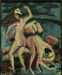 E.L.Kirchner, Zwei Badende, Fehmarn von AKG  Images