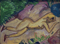 E.L.Kirchner / Reclining girl on beach by AKG  Images