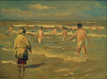 "M.Liebermann, ""Boys bathing"" / painting by AKG  Images"