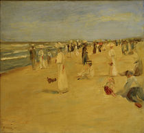 "M.Liebermann, ""Beach scene in Noordwijk"" / painting by AKG  Images"