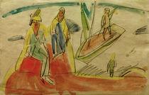 E.L.Kirchner, Menschen und Boot am Str. von AKG  Images