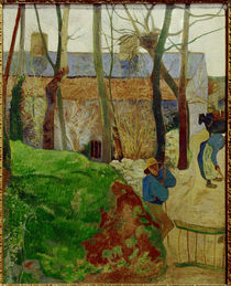 Paul Gauguin / Houses in Le Pouldu by AKG  Images