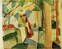 A.Macke / At Thun Cemetery by AKG  Images