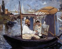 E.Manet, Die Barke (Claude Monet..) von AKG  Images