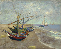 Fishing Boats on the Beach / V. van Gogh / Painting, 1888 by AKG  Images