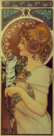 Alfons Mucha, Feather / 1899 by AKG  Images