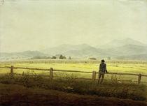 Mountain Landscape with Figure (Schmiedeberger Kamm) / C.D.Friedrich / Watercolour, c.1810 by AKG  Images