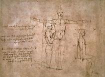 Vinci / Proportionsstudien Mann / fol. 27 r by AKG  Images