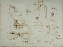 Vinci / Mechanik / Anatomie / Studie / fol. 34 r by AKG  Images
