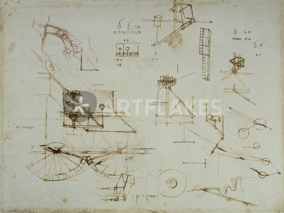 Vinci / Mechanik / Anatomie / Studie / fol. 34 r\
